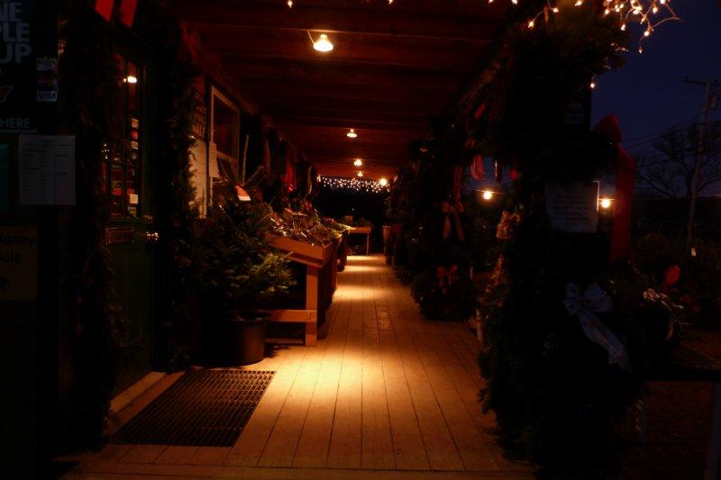 Norridgewock Gift Shop Porch in the Evening
