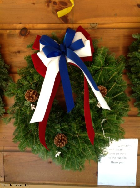 Patriotic Wreath by Trees To Please