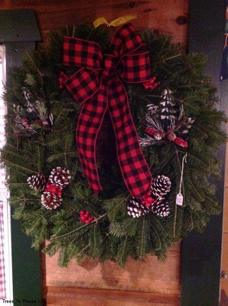 Buffalo Plaid Theme Wreath