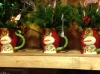 Floral Arrangements in Holiday Mugs